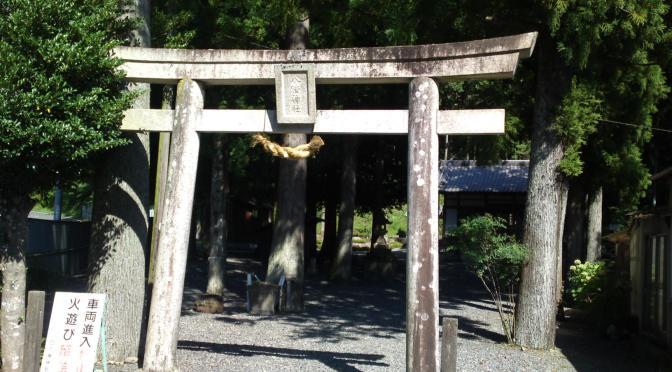 Hachiman Shrine (八幡神社) in Kawaguchi, Shimada City!