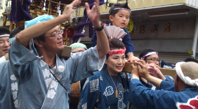 Jirochyou O-Mikoshi Parade at Shimizu Harbor Festival!