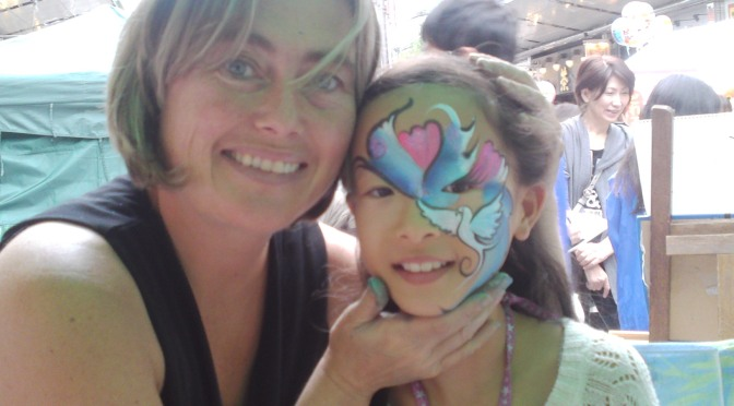 Face-Painting at Daidogei Festival in Shizuoka City!