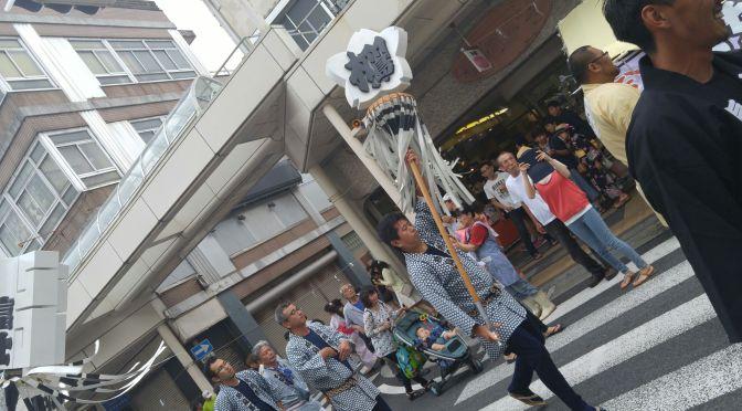 Gion Festival in Yoshiwara, Fuji City (2016) 2): Fire Brigade Parade!