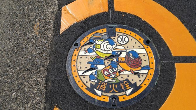 Manhole Covers in Shizuoka Prefecture 48: New Rescue Kinghishers Cover in Shizuoka City!